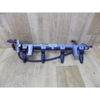 Топливная рампа с форсунками, RKJ, 1.8, Ford Mondeo 2, 988F9H487GA