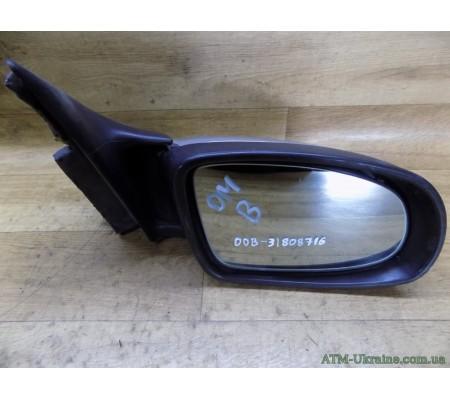 Зеркало заднего вида, боковое, правое, с электроприводом, Opel Omega B, GM090492214