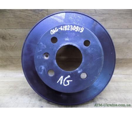 Диск тормозной задний, Opel Astra G, 24432189