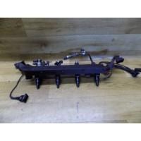 Топливная рампа(форсунка), 2.0, Opel Omega B, 90411551, X2OXEV