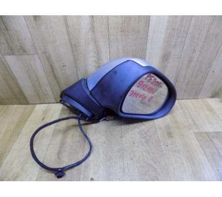 Зеркало правое (стекло, накладка, фонарик зеркала) (дефект), Peugeot 207SW, 96806501XT