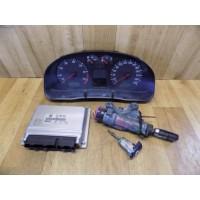 Щиток приборов, блок управления двигателем, замок зажигания с ключем, 2.3, Volkswagen Passat B5, 3B0920822, 0263623023, 4B0905851A, 0261206505, 071906018L
